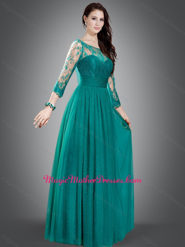 Dark turquoise color dress
