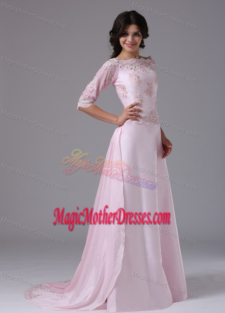 2 Sleeves and Appliques Accent Mother of The Bride Outfits in Rapid City
