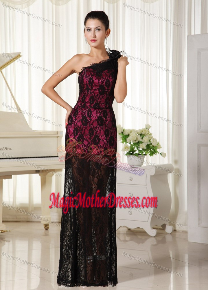 Flowers One Shoulder Lace Mother Dress for Wedding in Jupiter Florida