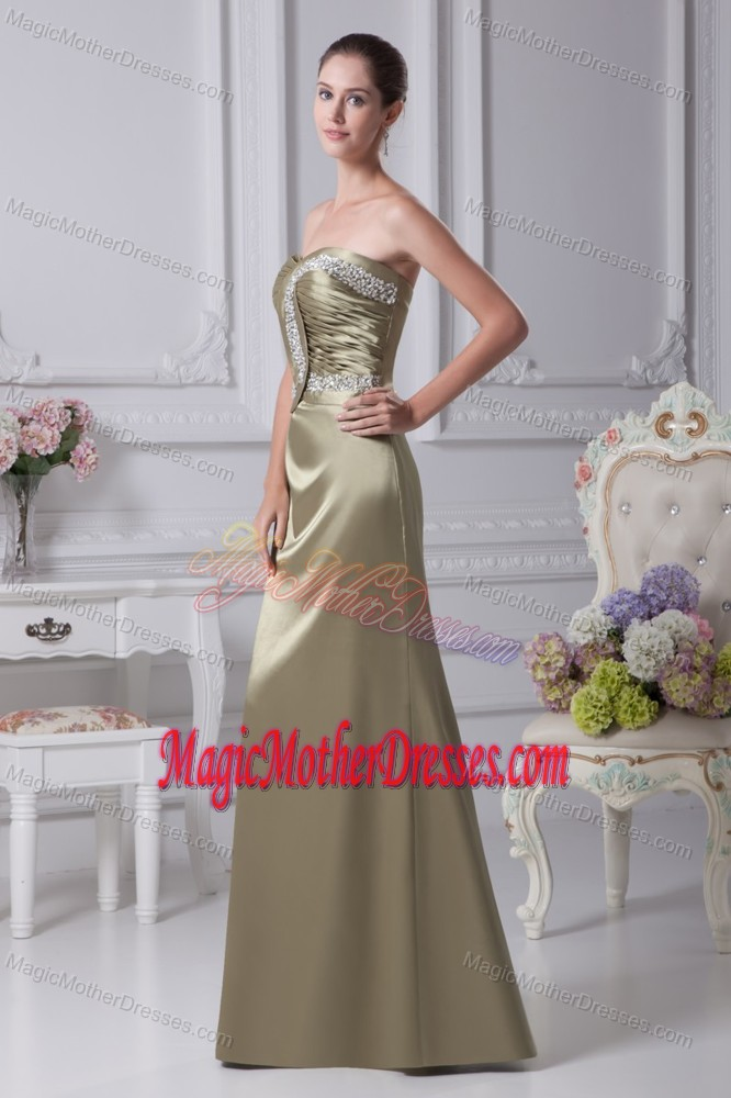 California Sweetheart Beading Ruched Taffeta Mother of The Bride Outfits