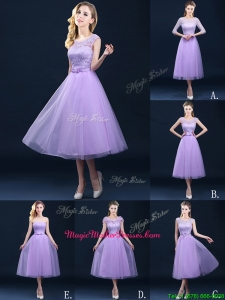 Best A Line Tulle Lavender Mother Of The Bride Dresses in Tea Length