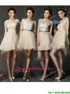 New Arrivals A Line Short Mother Of The Bride Dresses in Champagne