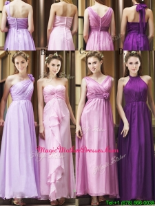 Classical Empire Ruched Chiffon Zipper Up Mother Of The Bride Dresses in Ankle Length