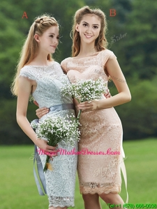Luxurious See Through Scoop Cap Sleeves Mother Of The Bride Dresses with Sashes