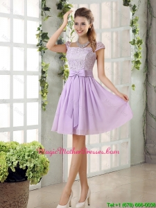 2016 Chiffon Mother Of The Bride Dresses with Ruching Bowknot