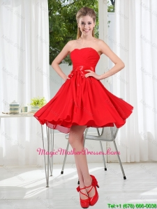 Pretty Ruching Strapless A Line Mother Of The Bride Dresses for 2015