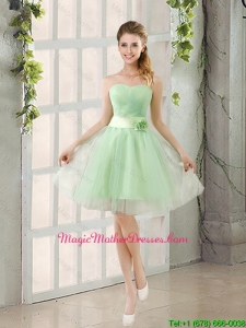 2016 A Line Sweetheart Lace Up Mother Of The Bride Dresses in Apple Green