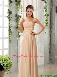 2016 Champagne Ruching Chiffon Mother Of The Bride Dresses with Sweetheart
