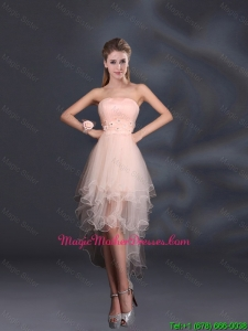 Appliques Strapless Ruffles Organza 2016 Sturning Mother Of The Bride Dresses