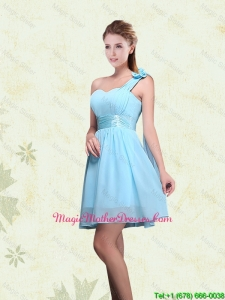 2016 A Line Ruching Chiffon Mother Of The Bride Dresses with One Shoulder