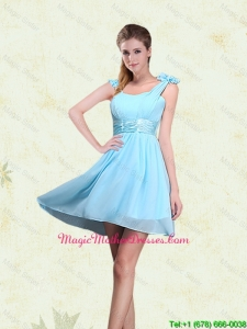 2016 A Line Straps Mother Of The Bride Dresses with Ruching and Bowknot