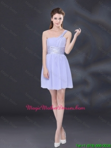 2016 Ruching and Belt Chiffon Mother Of The Bride Dresses in Lavender