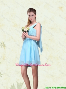 2016 Cheap Ruching One Shoulder Chiffon Mother Of The Bride Dresses