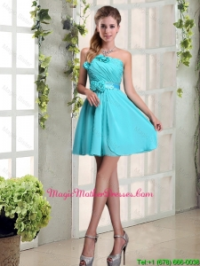 2016 Cheap Ruching and Hand Made Flowers Mother Of The Bride Dress with Strapless