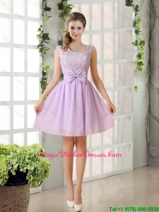 2016 Cheap Chiffon A Line Mother Of The Bride Dress with Bowknot