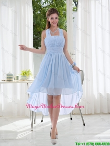 Halter Ruching 2016 Cheap Chiffon Mother Of The Bride Dress