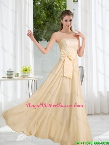 Strapless Empire Bowknot Lace Cheap Mother Of The Bride Dresses for 2016