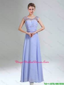 Lavender Scoop Belt and Lace Empire Cheap Mother Of The Bride Dresses for 2016
