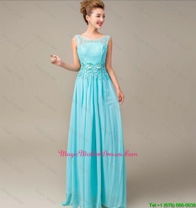 Discount Lace Up Appliques and Laced Mother Dresses in Aqua Blue