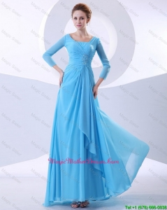 Gorgeous Beading Aqua Blue Mother Dresses in 2016