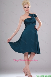 Elegant Short Strapless Mother Dresses with Ruching