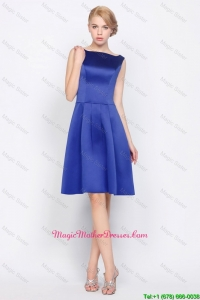 2016 Modest Empire Bateau Mother Dresses in Royal Blue