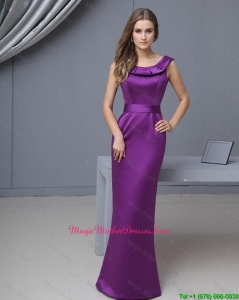 Beautiful Column Scoop Mother Gowns with Floor Length