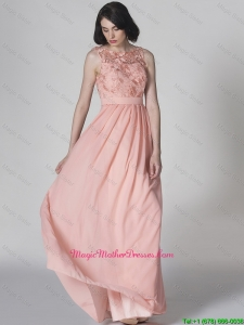 New Style Scoop Pink Mother Dresses in Lace
