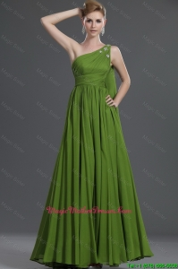 Simple A Line One Shoulder Mother Of The Bride Dresses with Watteau Train