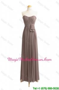 Custom Made Empire Sweetheart Ruching Elegant Mother Of The Bride Dresses with Belt