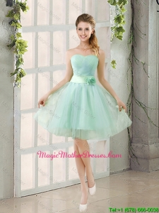2016 Summer A Line Strapless Ruching Mother Of The BrideDresses in Tulle