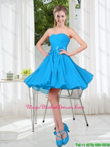 2016 Summer A Line Sweetheart 2016 Mother Of The Bride Dress in Baby Blue