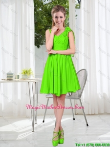 A Line Hand Made Flowers Mother Of The Bride Dresses in Spring Green