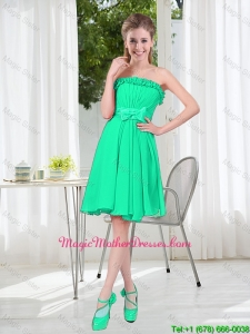 A Line Strapless Turquoise 2016 Mother Of The Bride Dresses for Spring
