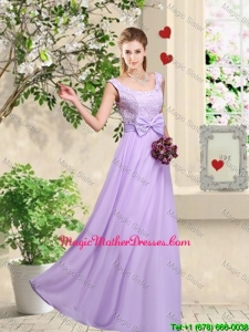Classical 2016 Bowknot Mother Of The BrideDresses with Floor Length