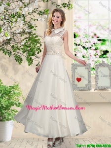 2016 Fashionable Appliques Mother Of The BrideDresses with High Neck