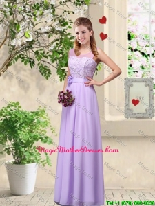 Comfortable Hand Made Flowers Mother Of The Bride Dresses with Lace
