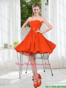 Custom Made Sweetheart Short Mother Of The Bride Dress with Belt