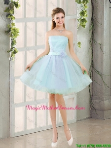 2016 Custom Made A Line Strapless Short Mother Of The Bride Dresses