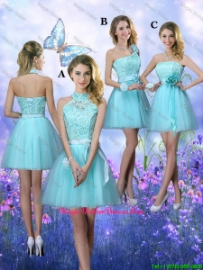 Beautiful A Line Aqua Blue Mother Of The Bride Dresses with Appliques
