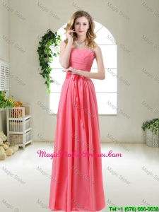 Discount 2016 Bridesmaid Dresses with Sashes and Ruching