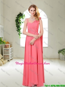 Luxurious Asymmetrical Mother Of The Bride Dresses in Watermelon Red