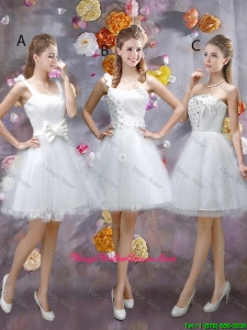 Sophisticated Appliques White Mother Of The Bride Dresses with Mini Length