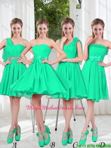 Turquoise Short Mother Of The Bride Dresses in Fall