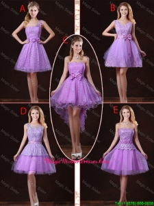 2016 Popular Laced Lilac Mother Of The Bride Dresses with A Line