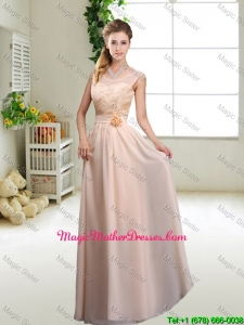 Beautiful Hand Made Flowers Mother Of The Bride Dresses with Column