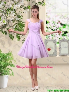Exclusive Straps Beaded Mother Of The Bride Dresses with Mini Length