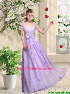 New Style Laced and Bowknot Mother Of The Bride Dresses with Square