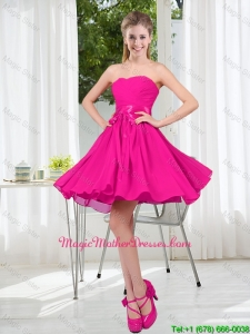 Custom Made Sweetheart Short Mother Of The Bride Dress with Bowknot