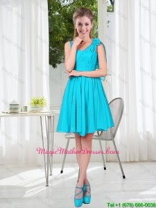 Short Straps Custom Made Mother Of The Bride Dress in Aqua Blue